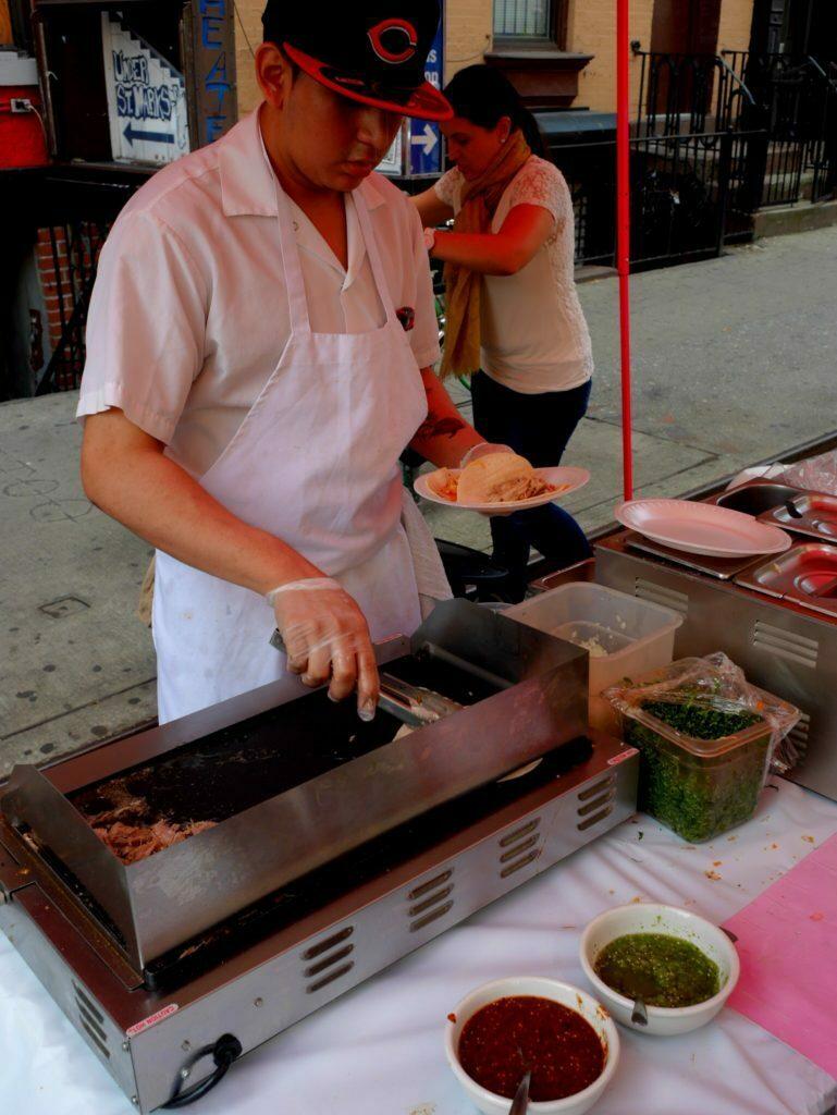 Tacos mit Tintenfischen und Hänchenfleisch in East Village