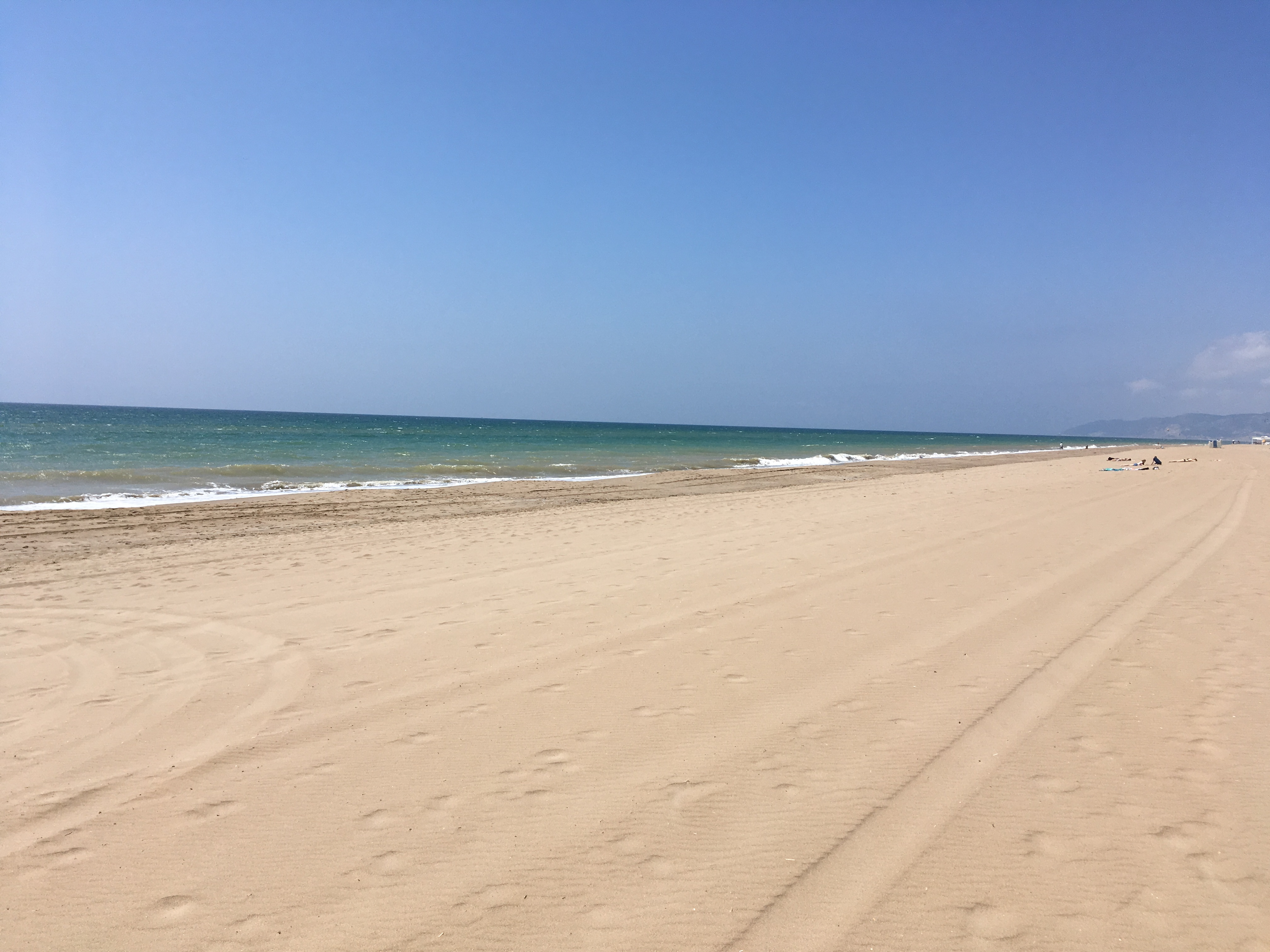 Strand in Gava bei Barcelona