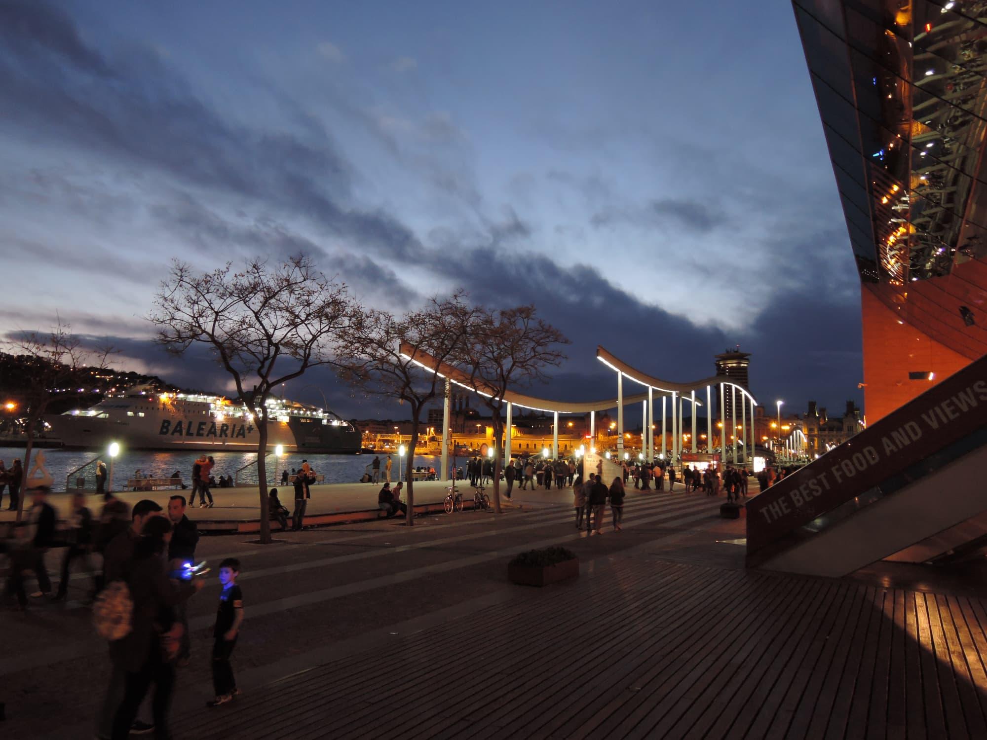 Port Vella in Barcelona