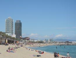 Strand in Barcelona
