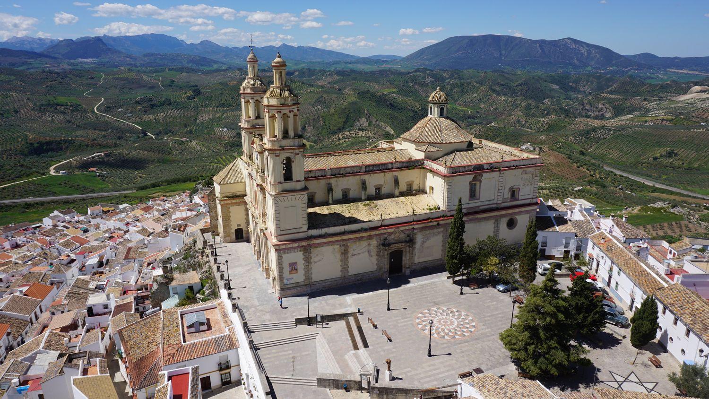 Olvera Kirche Rundreise Südspanien