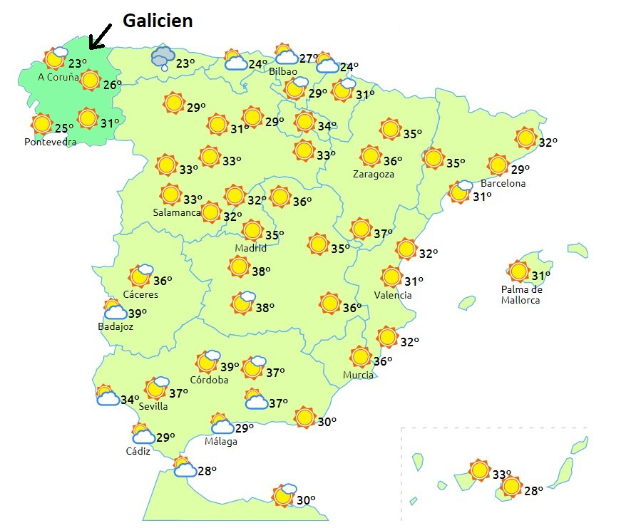 Wetter in galicien