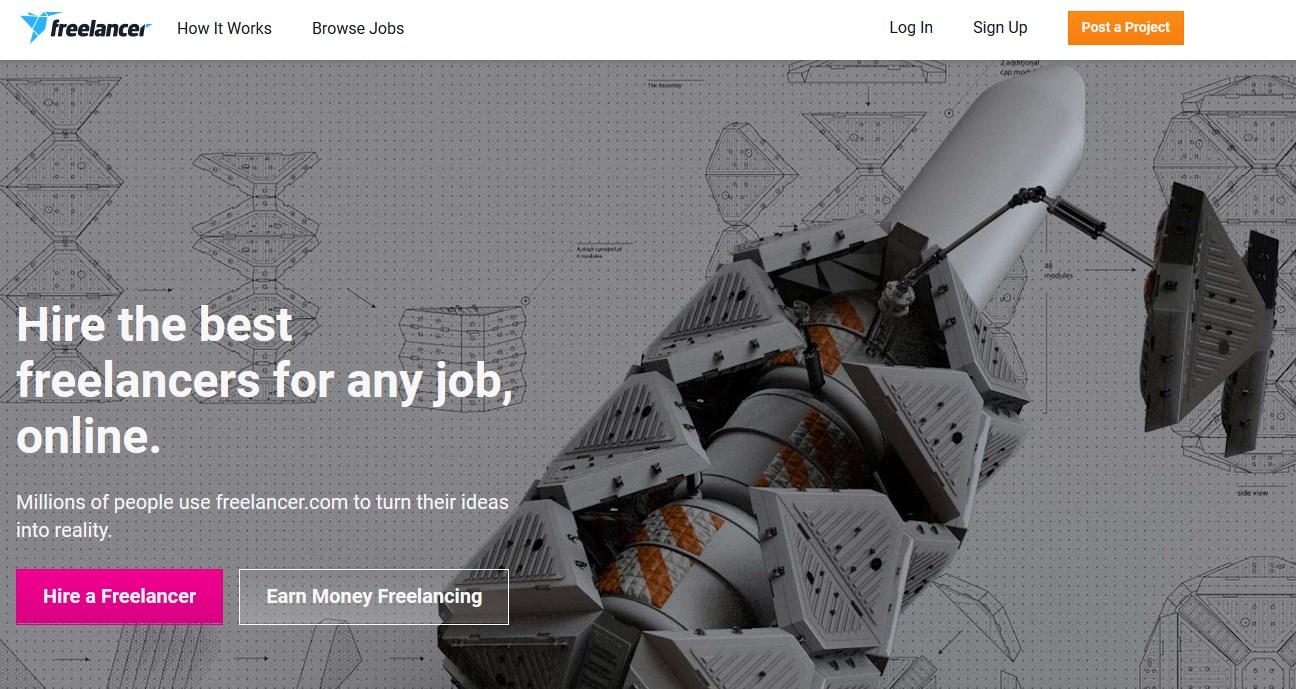 Freelancer.com internationales Plattform für Selbständige und Freelancer